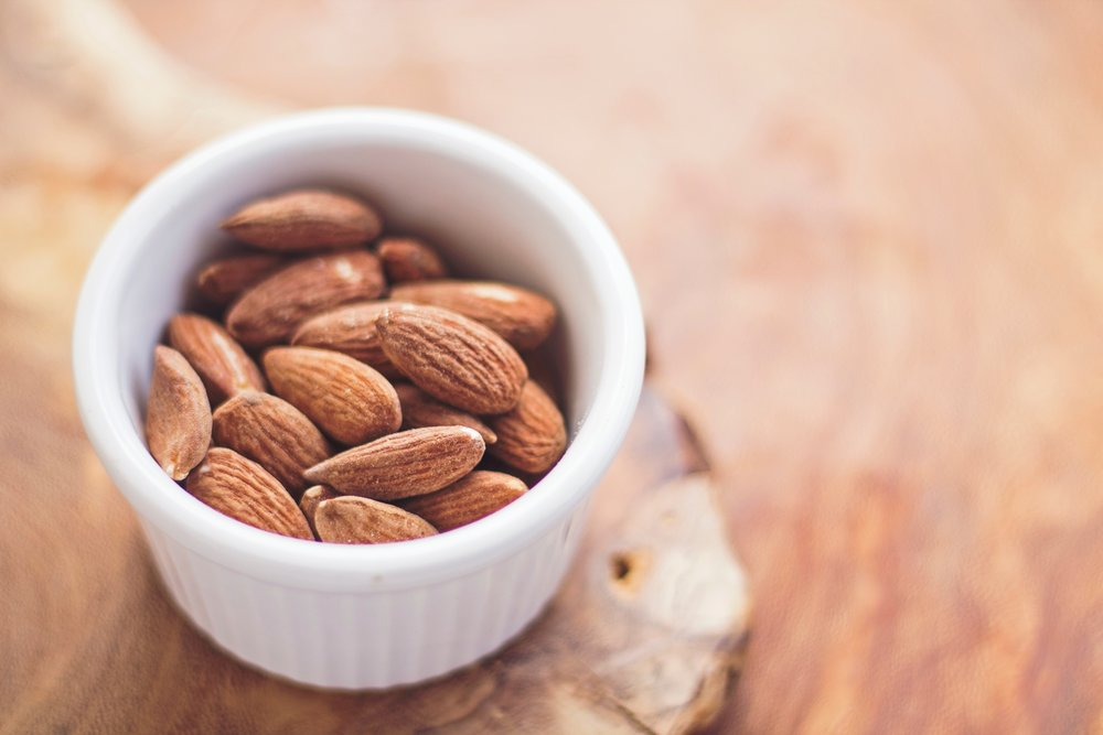 Eating almonds, nuts, walnuts not only give you a source of healthy fats but also fiber.