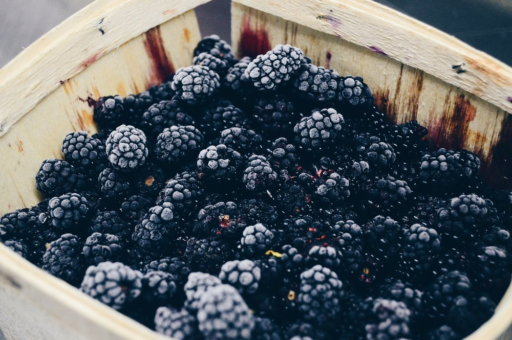 Eating blackberries help meet your caloric intake for the day.