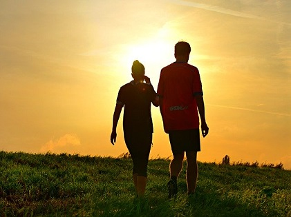 running exercise fit couple partners relationship