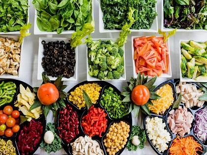 healthy food fruits vegetables
