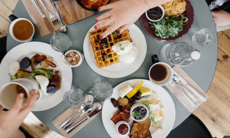 waffle-on-white-ceramic-plate